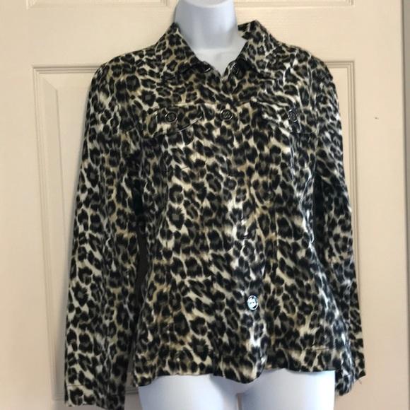 Jackets & Coats | Black Taupe Animal Print Jacket | Poshmark